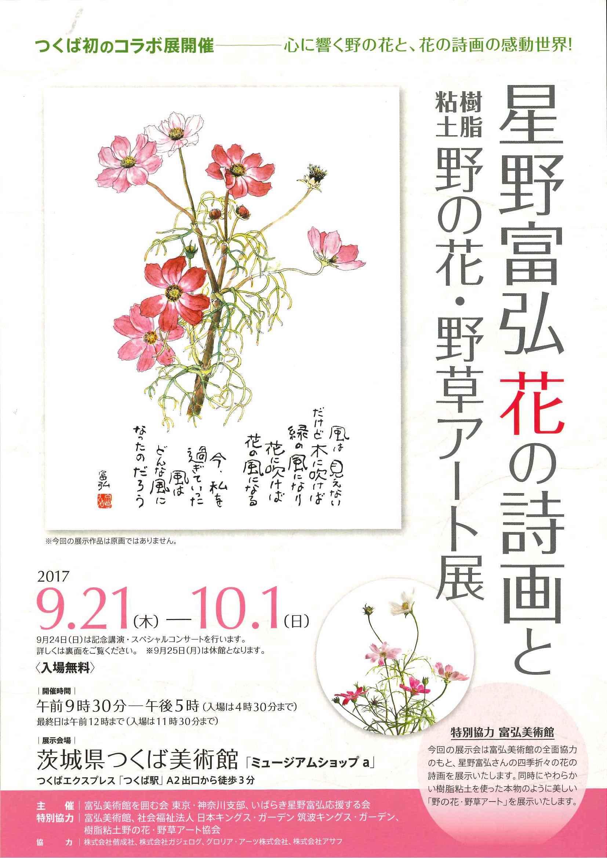 つくば美術館 星野富弘 花の詩画と樹脂粘土野の花・野草アート展
